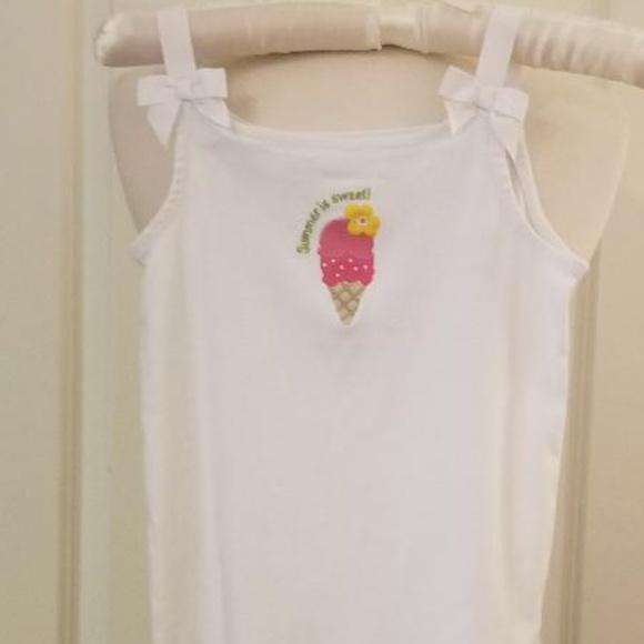 Gymboree 3T Ice Cream Cone Shorts Ruffle Pink Blue Cotton Jersey Girls New